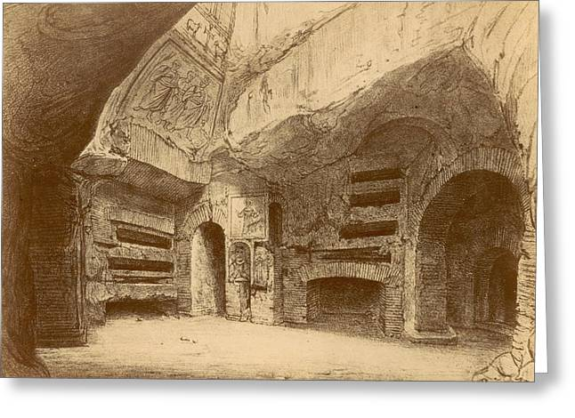 Roman Catacombs Greeting Card by Granger