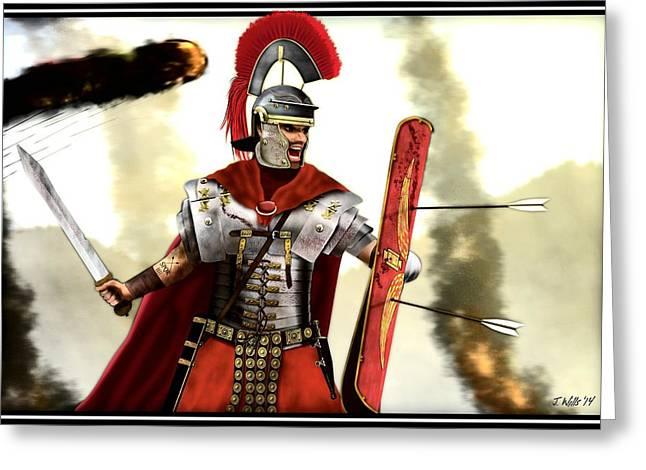 Roman Centurion Greeting Card by John Wills