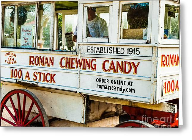 Roman Chewing Candy Nola Greeting Card by Kathleen K Parker