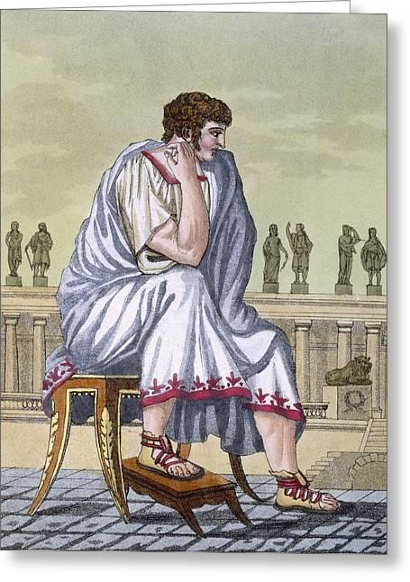 Roman Citizen, A Folio From Lantique Greeting Card by Jacques Grasset de Saint-Sauveur