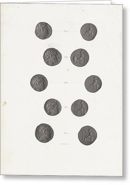 Roman Coins, Jan Dam Steuerwald Greeting Card by Jan Dam Steuerwald