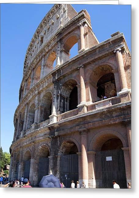 Roman Colosseum Wall. Greeting Card