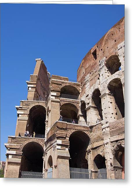 Roman Colosseum Walls. Greeting Card