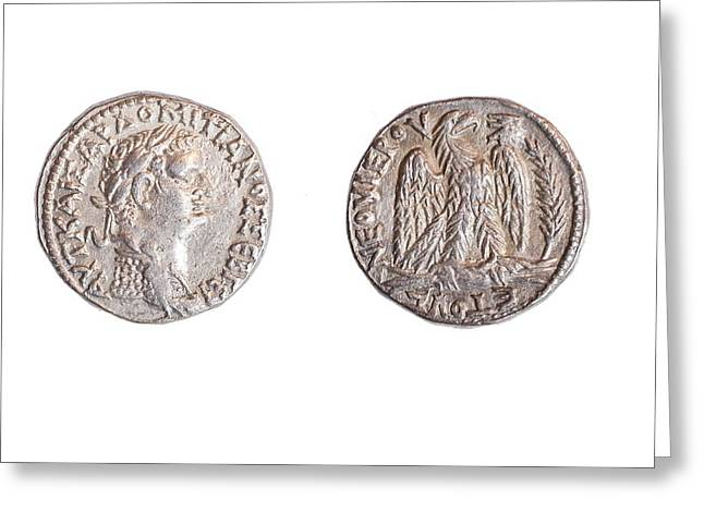 Roman Domitianus Coin Greeting Card