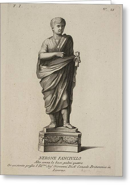 Roman Empreror Nero Greeting Card by British Library