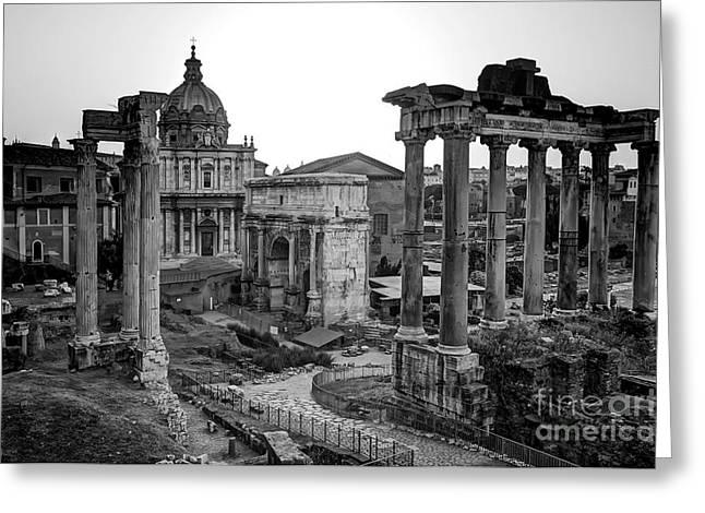 Roman Forum At Sunrise Greeting Card by Anthony Festa
