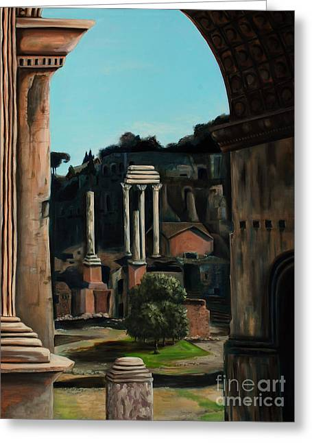Roman Forum Greeting Card by Nancy Bradley