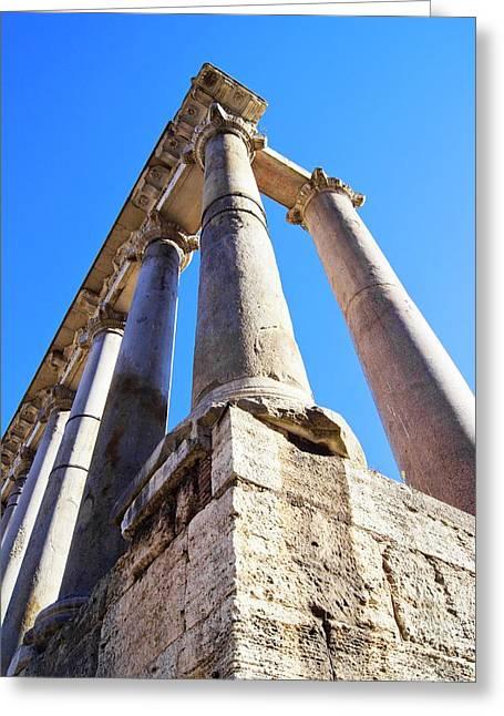 Roman Forum Pillars. Greeting Card by Mark Williamson