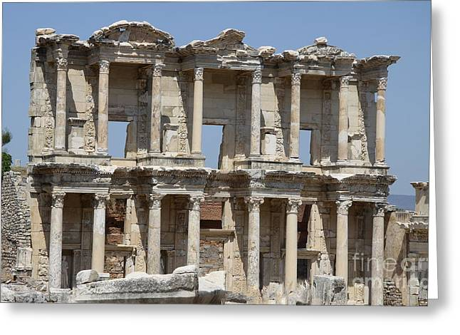 Roman Library Of Celsus Greeting Card