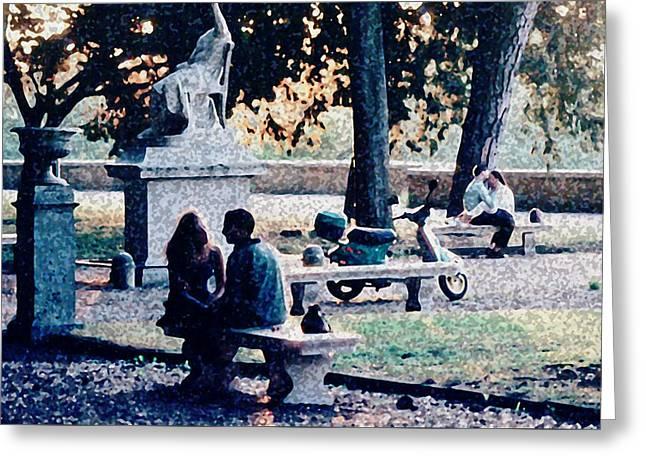 Greeting Card featuring the photograph Roman Romance Tivoli Gardens by Tom Wurl