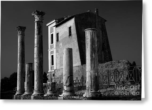 Roman Ruin At Palatine Hill Greeting Card by Julian Cook