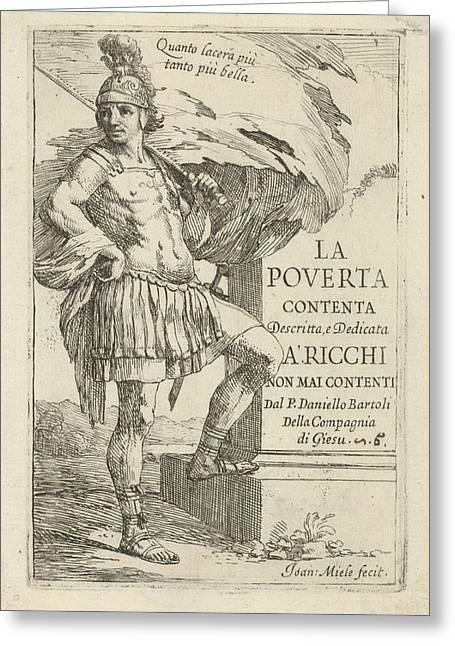 Roman Soldier, Jan Miel Greeting Card by Jan Miel