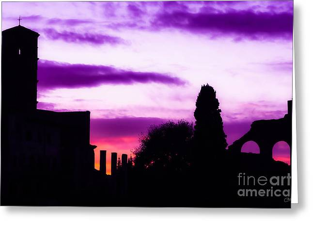 Roman Sunrise Greeting Card