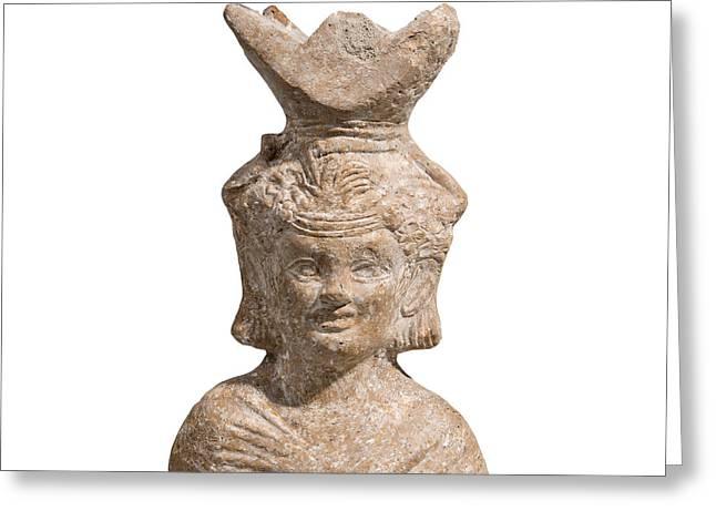 Roman Terracotta Censer Greeting Card by Ilan Amihai