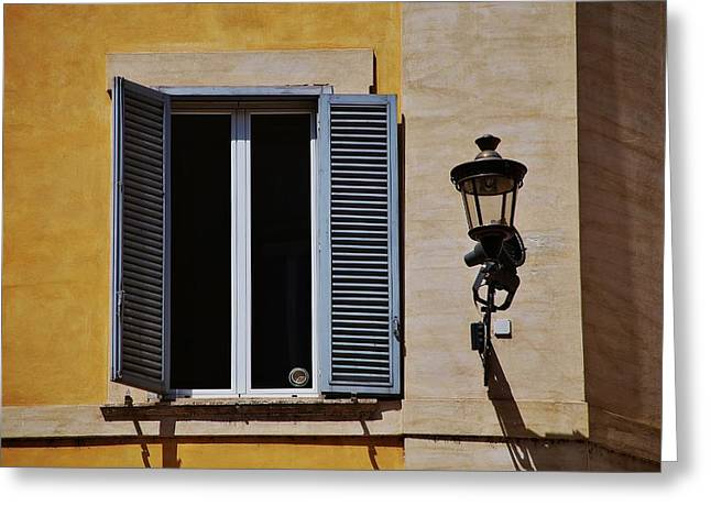 Roman Window Greeting Card by Dany Lison