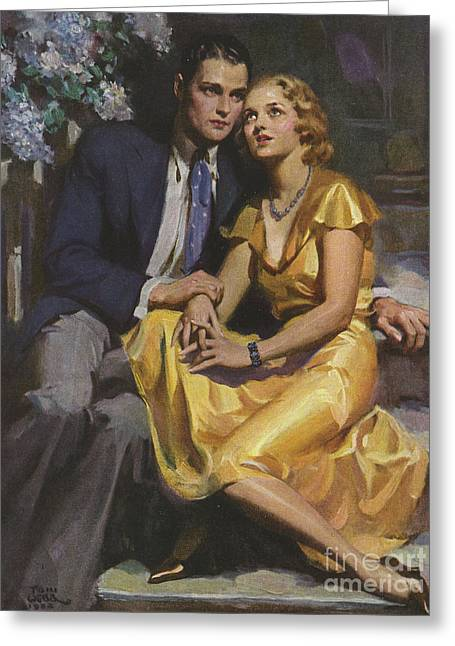 Romance  1933 1930s Uk Womens Story Greeting Card by The Advertising Archives