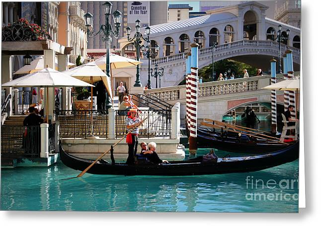 Romance At The Venetian Greeting Card