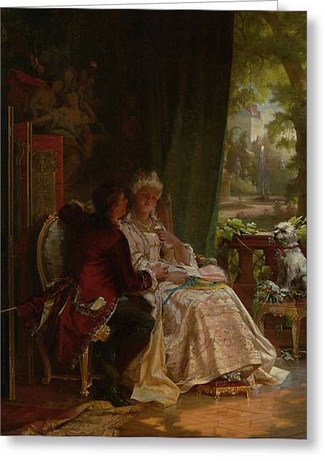 Romance Greeting Card by Carl Herpfer