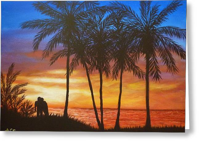 Romance In Paradise Greeting Card