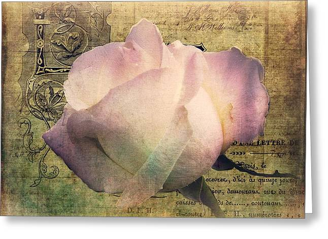 Romance Of The Rose Greeting Card by Shirley Sirois