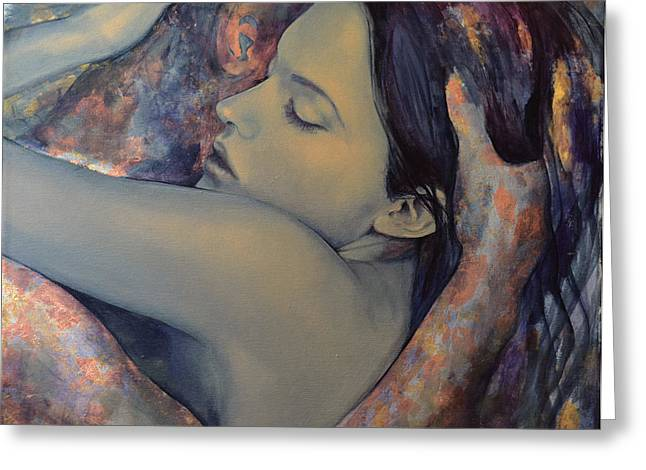 Romance With A Chimera Greeting Card by Dorina  Costras