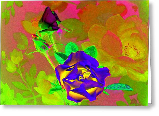 Romancing The Rose Greeting Card by Will Borden