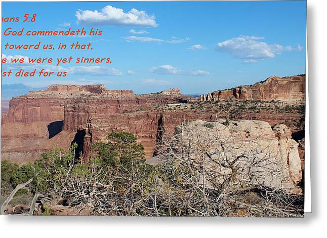 Romans 5-8  Canyonlands Np  Greeting Card by Nelson Skinner
