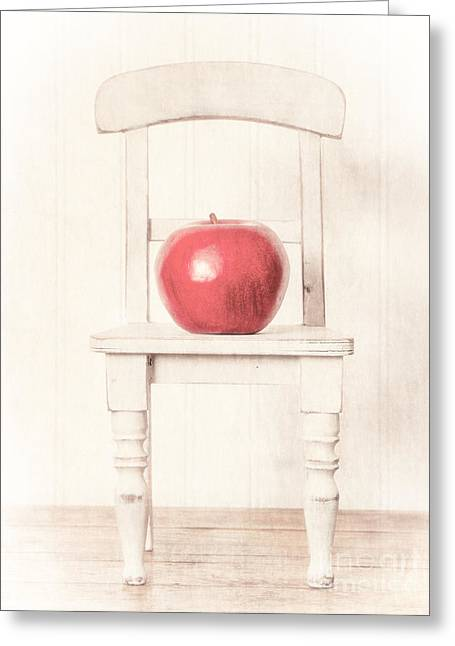 Romantic Apple Still Life Greeting Card by Edward Fielding