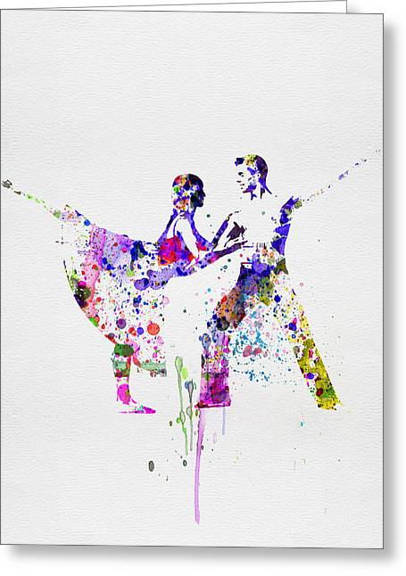 Romantic Ballet Watercolor 2 Greeting Card