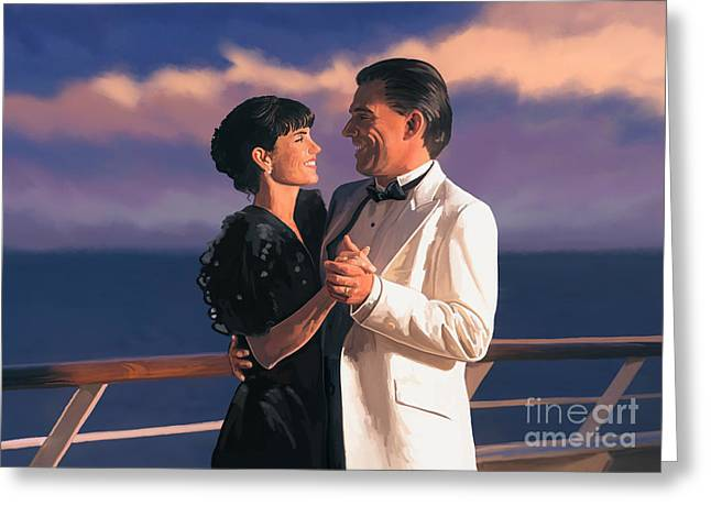 Greeting Card featuring the painting Romantic Cruise by Tim Gilliland