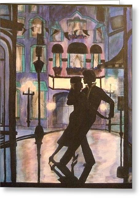 Romantic Dance Greeting Card by Lynne McQueen
