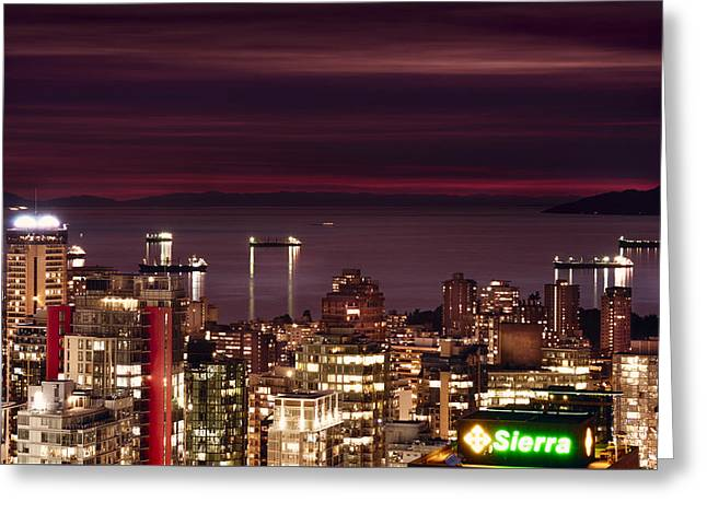 Greeting Card featuring the photograph Romantic English Bay Mdcci by Amyn Nasser