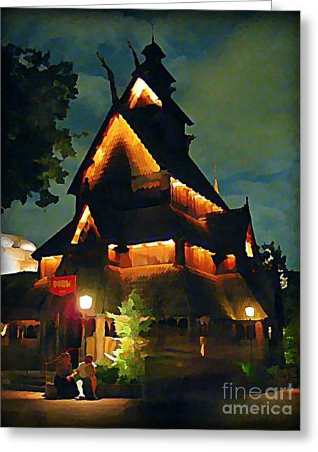 Romantic Evening For Two Greeting Card by John Malone