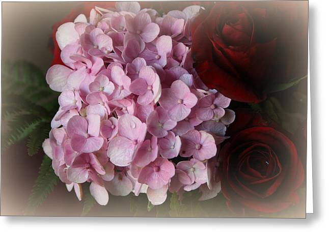 Greeting Card featuring the photograph Romantic Floral Fantasy Bouquet by Kay Novy