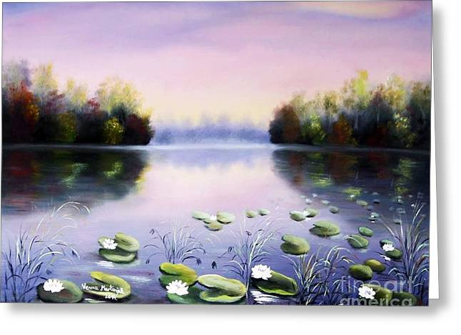 Romantic Lake Greeting Card