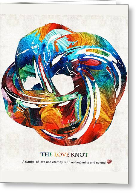 Romantic Love Art - The Love Knot - By Sharon Cummings Greeting Card