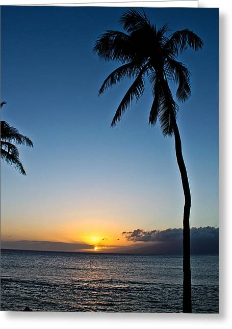 Romantic Maui Sunset Greeting Card