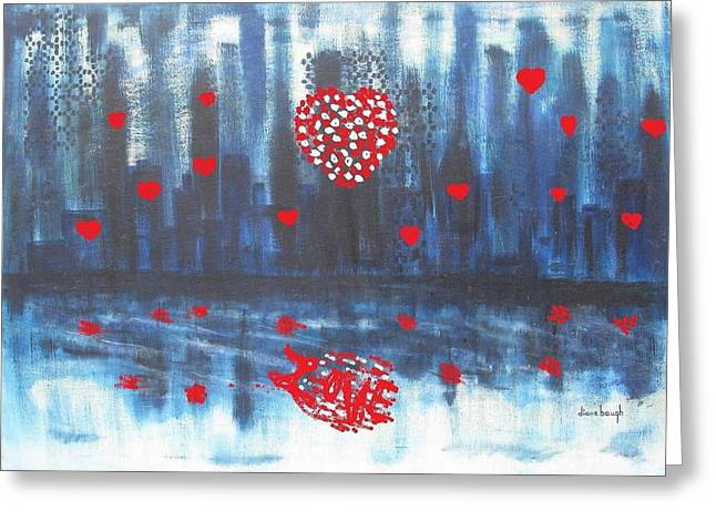 Romantic Reflection Greeting Card by Diane Pape