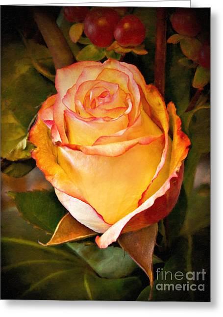 Romantic Rose Greeting Card by Lutz Baar
