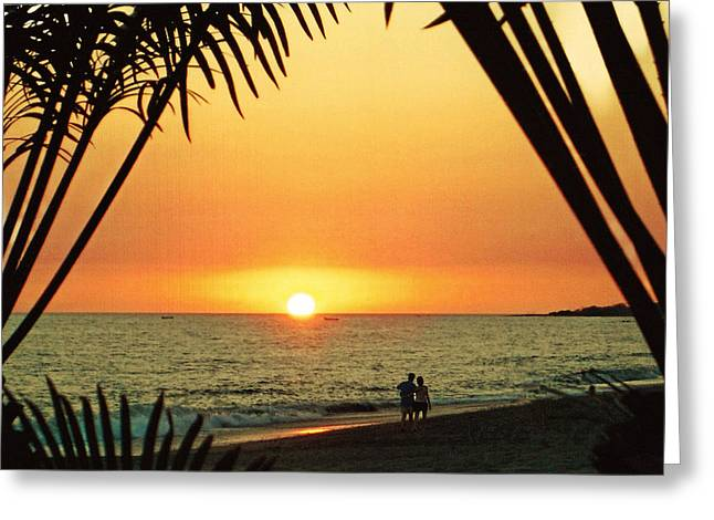 Romantic Sunset Greeting Card