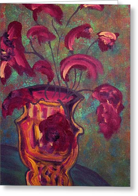 Romantic Vase  Greeting Card by Oscar Penalber