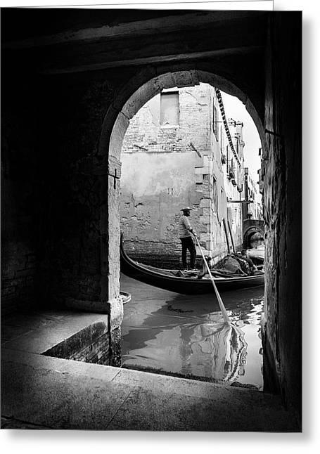 Romantic Venice! Greeting Card by Fernando Jorge Gon?alves