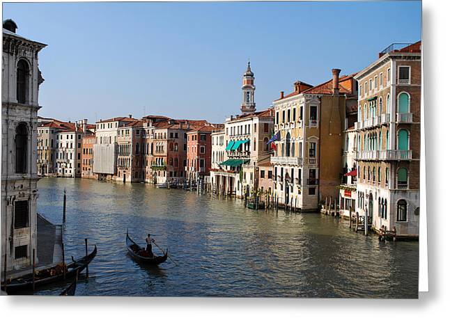 Romantic Venice Greeting Card by Terence Davis