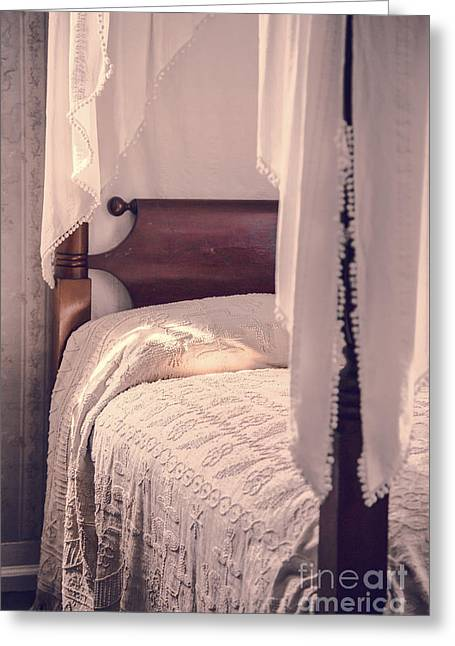 Romantic Vintage Bedroom Greeting Card by Edward Fielding