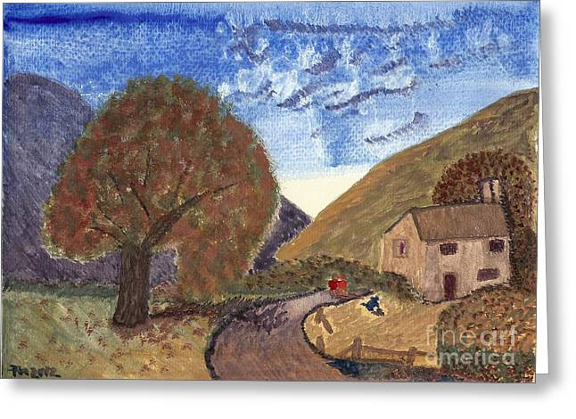 Greeting Card featuring the painting Romantic Walk by Tracey Williams