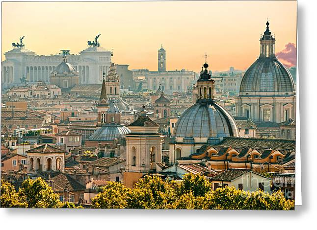Rome - Italy Greeting Card by Luciano Mortula