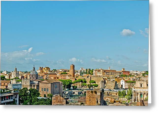 Rome Cityscape Greeting Card by Luis Alvarenga