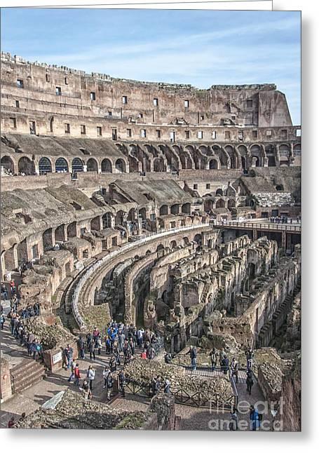 Rome Colosseum Interior 05 Greeting Card