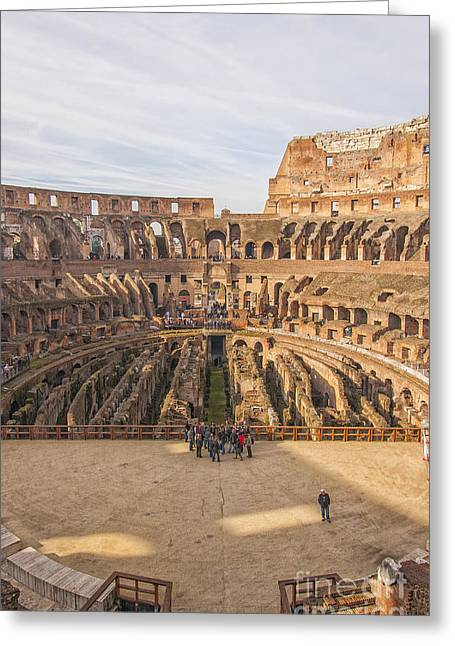 Rome Colosseum Interior View Greeting Card