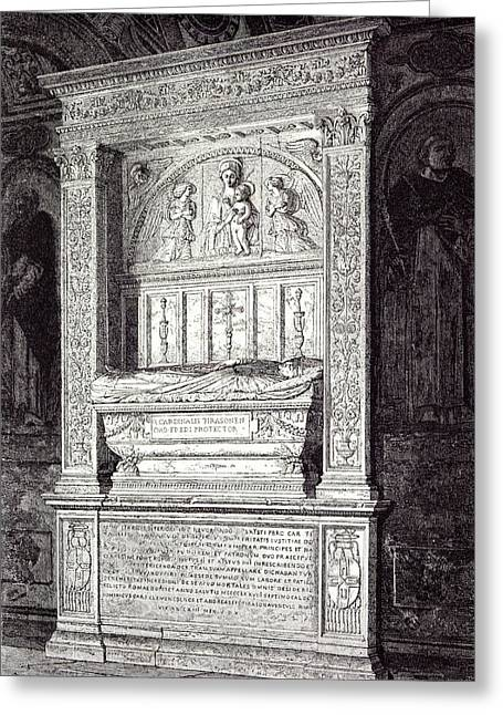 Rome Italy 1875 Tomb Of Cardinal Ferrici At The Minerva Greeting Card